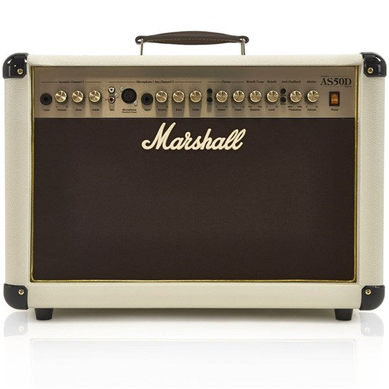 MARSHALL AS50D 50W ACOUSTIC AMPLIFIER - LIMITED EDITION CREAM