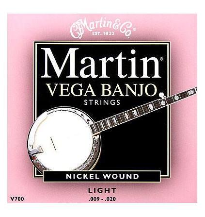 MARTIN VEGA BANJO NICKEL WOUND STRINGS - 9-20 LIGHT