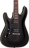 SCHECTER OMEN-6 LEFT-HANDED - GLOSS BLACK