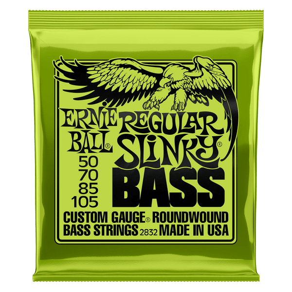 ERNIE BALL REGULAR SLINKY NICKEL WOUND BASS STRINGS - 50-105 GAUGE