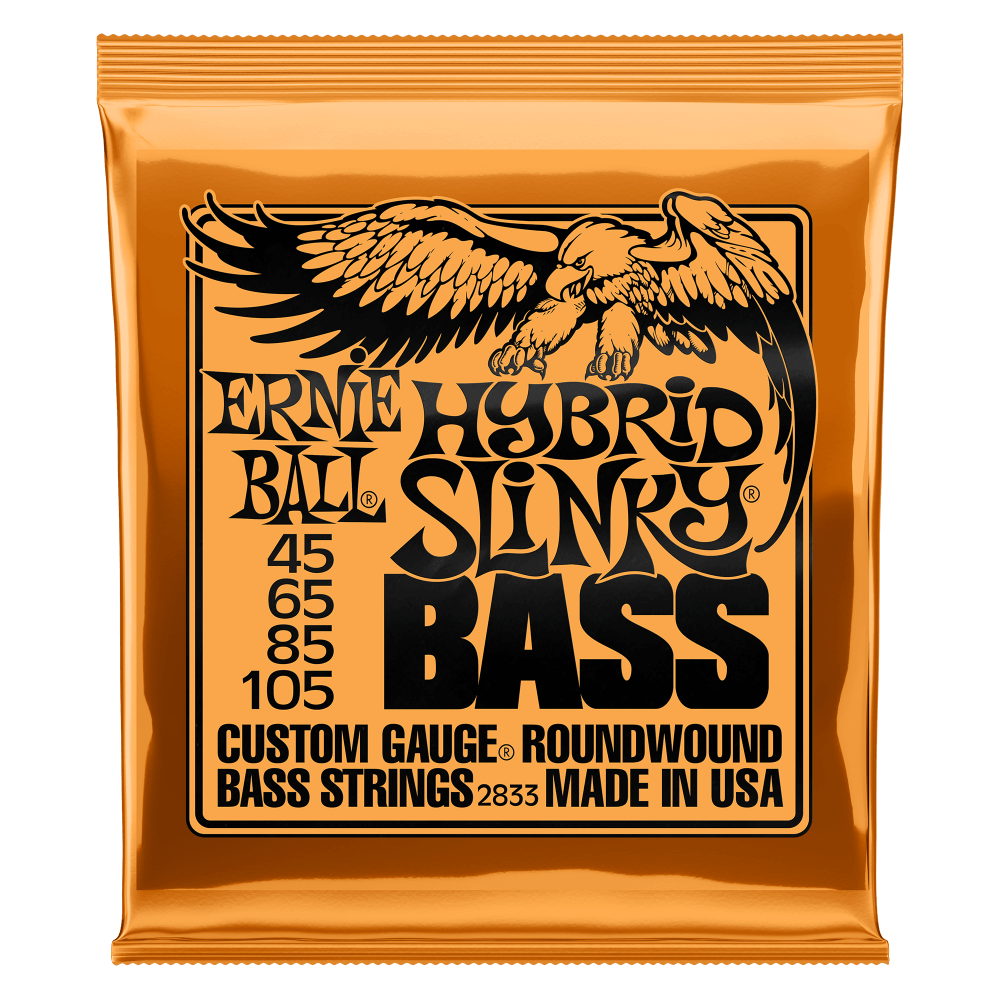 ERNIE BALL HYBRID SLINKY NICKEL WOUND ELECTRIC BASS STRINGS - 45-105 GAUGE