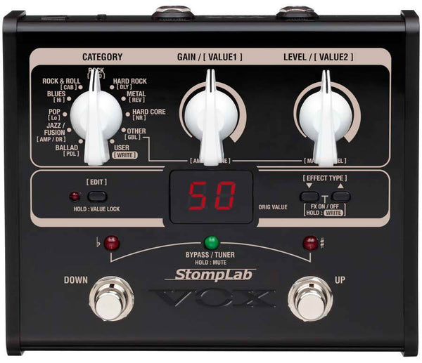 VOX STOMPLAB IG - MODELLING EFFECTS PEDAL FOR GUITAR
