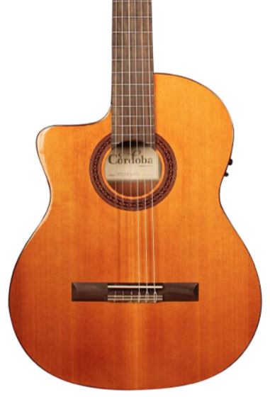 CORDOBA C5-CE - SOLID CEDAR TOP CLASSICAL W/PICKUP LEFT HANDED