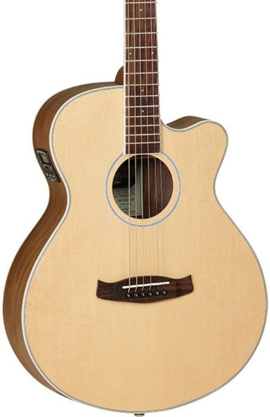 TANGLEWOOD TDBTSFCEBW DISCOVERY EXOTIC SUPERFOLK - BLACK WALNUT