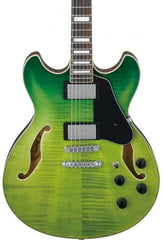 IBANEZ AS73FM ARTCORE FLAME MAPLE HOLLOWBODY - GREEN VALLEY GRADATION