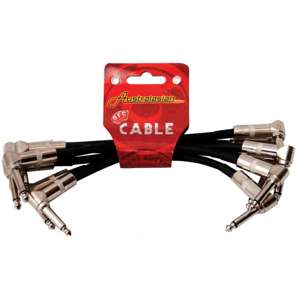 "AUSTRALASIAN 6"" RIGHT ANGLE PATCH CABLE - 6 PACK"