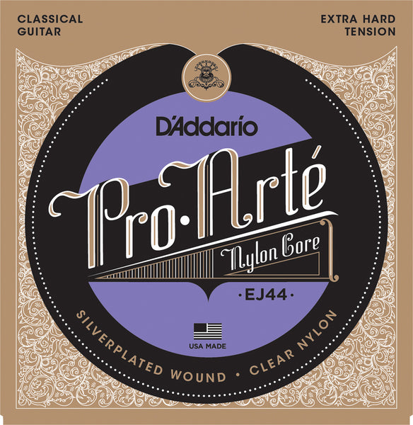 D'ADDARIO PRO ARTE CLASSICAL NYLON CORE - EXTRA HARD TENSION EJ44