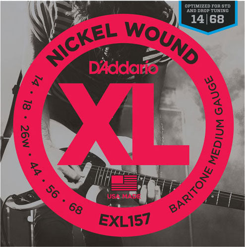 D'ADDARIO ELECTRIC NICKEL WOUND EXL157 - 14-68 BARITONE MEDIUM
