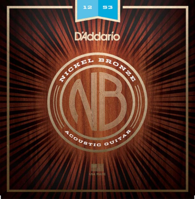 D'ADDARIO ACOUSTIC NICKEL BRONZE NB1253 - 12-53 LIGHT