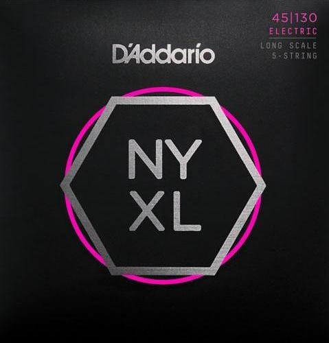 D'ADDARIO BASS NYXL NICKEL WOUND 45-130 gauge 5 STRING