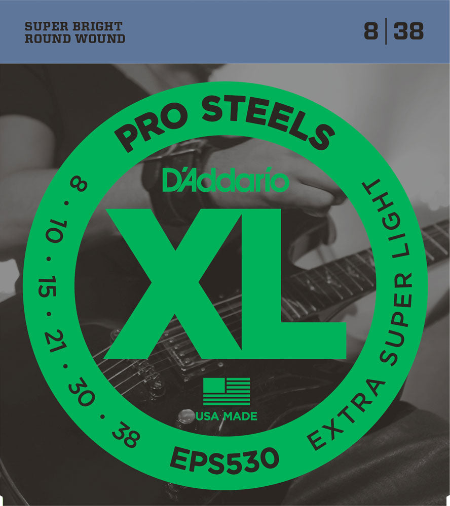 D'ADDARIO ELECTRIC PRO STEELS EPS530 - 8-38 X-SUPER LIGHT