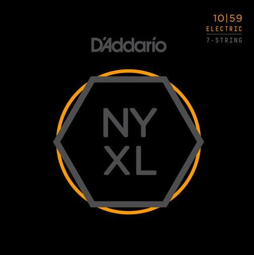D'ADDARIO ELECTRIC NYXL NICKEL WOUND - 10-59 7-STRING LIGHT