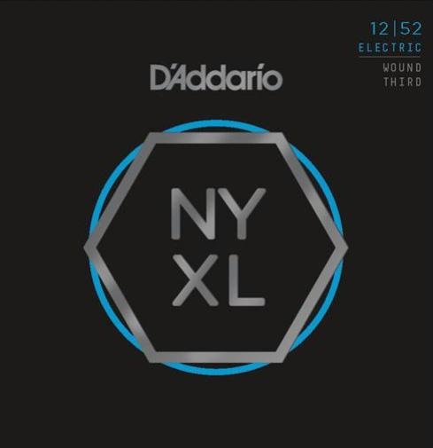 D'ADDARIO ELECTRIC NYXL NICKEL WOUND - 12-52 HEAVY (WOUND THIRD)