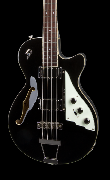 DUESENBERG STARPLAYER BASS - BLACK IN FORM FIT CUSTOM CASE