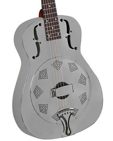REGAL RC-1-N BRUSHED NICKEL PLATED STEEL RESONATOR GUITAR
