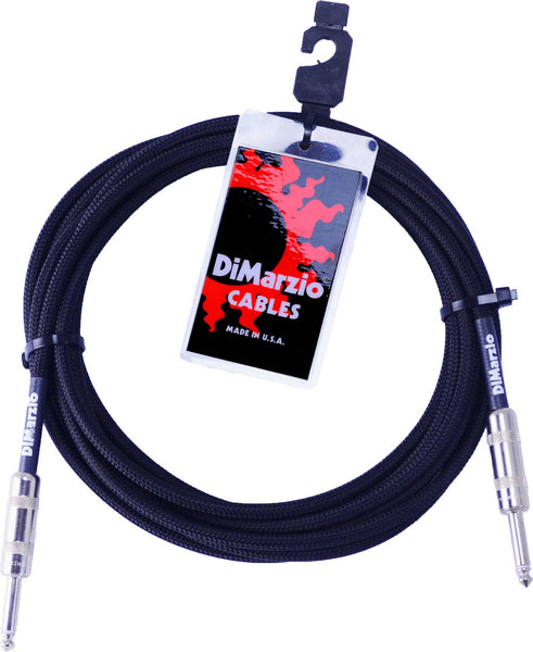 DIMARZIO 18FT BRAIDED INSTRUMENT CABLE BLACK - STRAIGHT/STRAIGHT