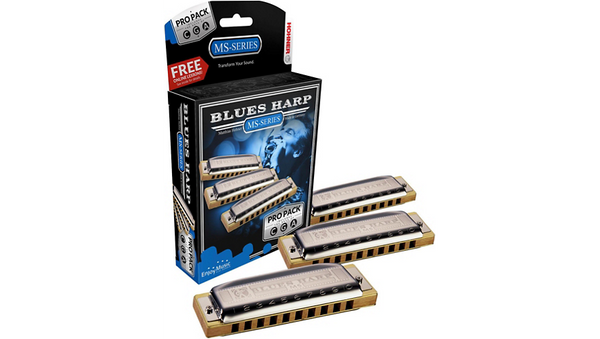 HONER MS-SERIES BLUES HARP PRO PACK - KEY OF C, G and A