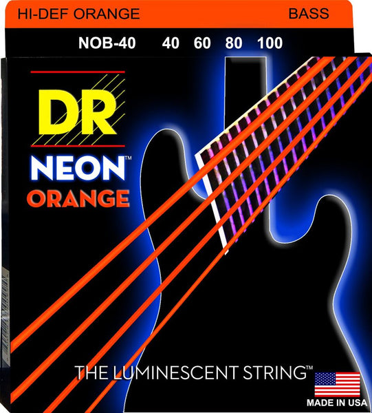 DR NEON BASS STRINGS - HI-DEF ORANGE - 45-105