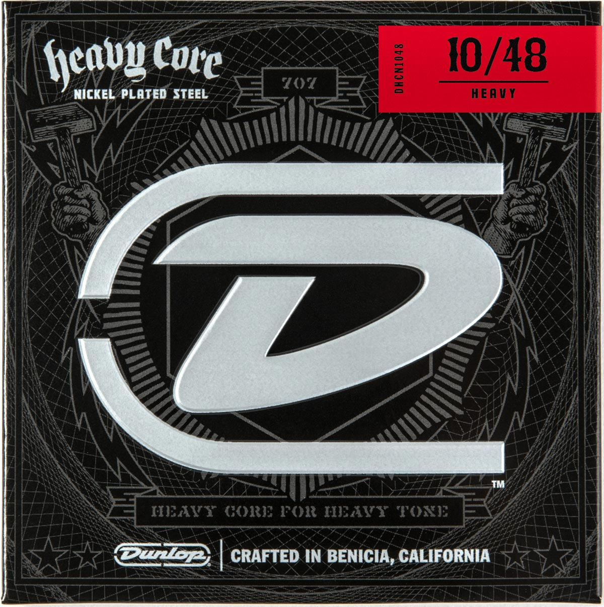 DUNLOP HEAVY CORE ELECTRIC STRINGS - 10-48 HEAVY