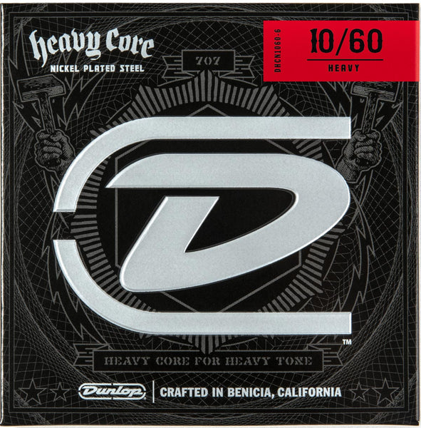 DUNLOP HEAVY CORE ELECTRIC STRINGS - 10-60 HEAVY 7-STRING