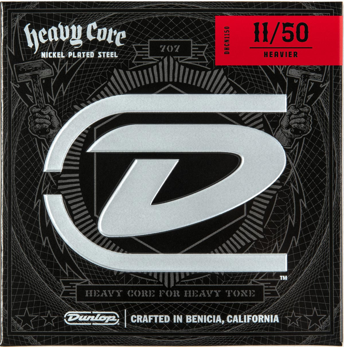 DUNLOP HEAVY CORE ELECTRIC STRINGS - 11-50 HEAVIER