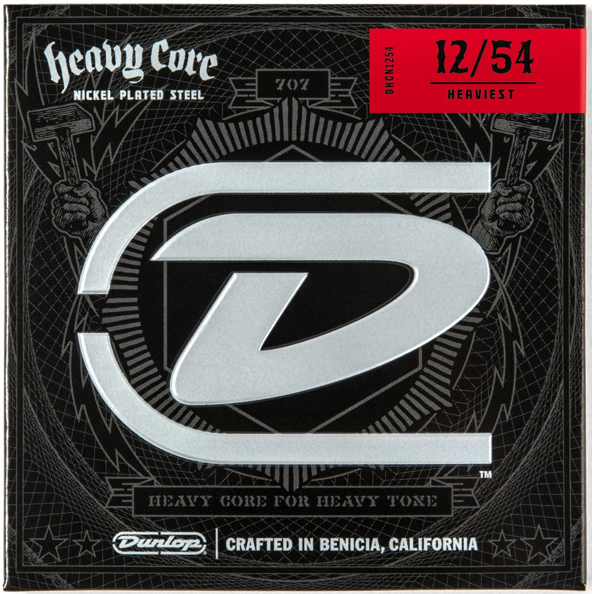 DUNLOP HEAVY CORE ELECTRIC STRINGS - 12-54 HEAVIEST