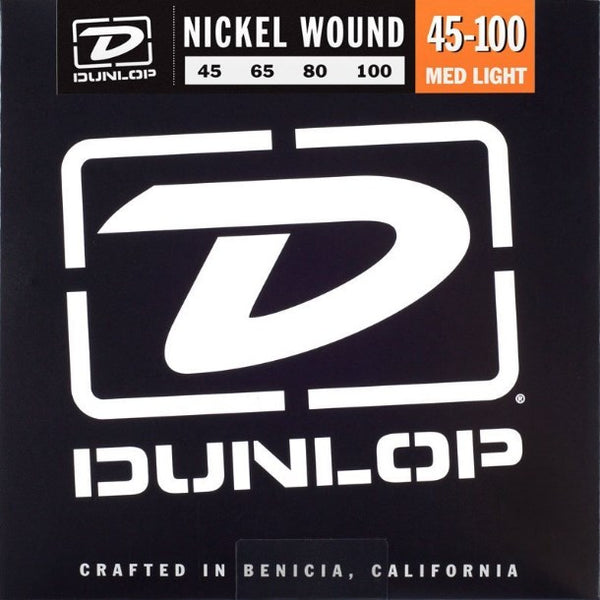 DUNLOP NICKEL WOUND BASS STRINGS - 45-100