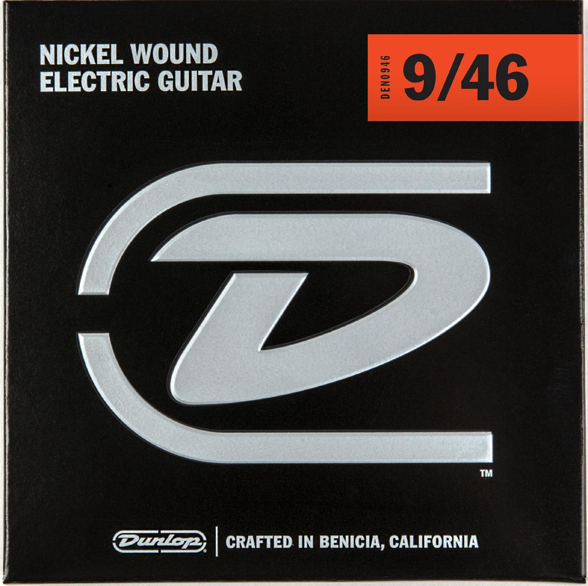DUNLOP NICKEL WOUND ELECTRIC STRINGS - 9-46