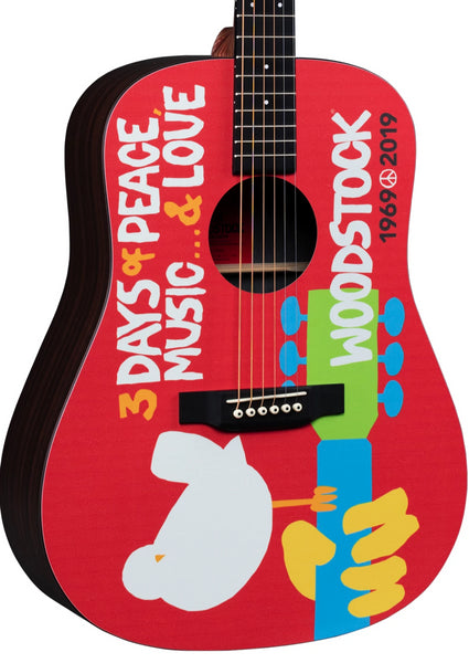 MARTIN & CO WOODSTOCK 50TH ANNIVERSARY AC/ELEC GUITAR