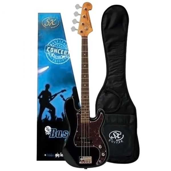 ESSEX 3/4 BASS GUITAR - BLACK
