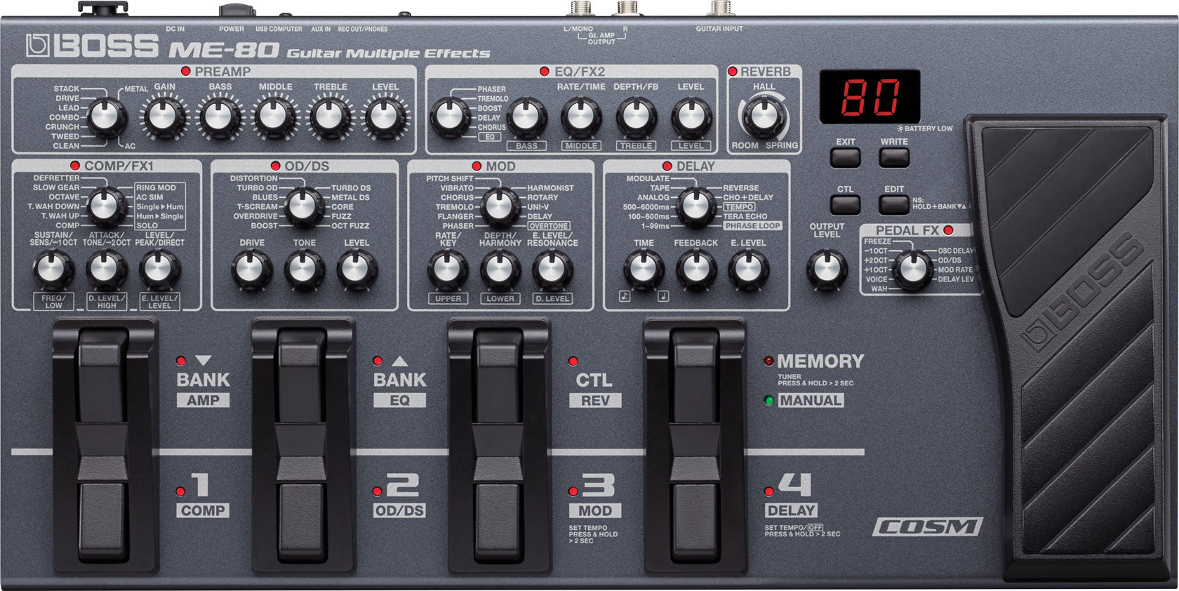 BOSS ME-80 - GUITAR MULTI EFFECTS PROCESSOR