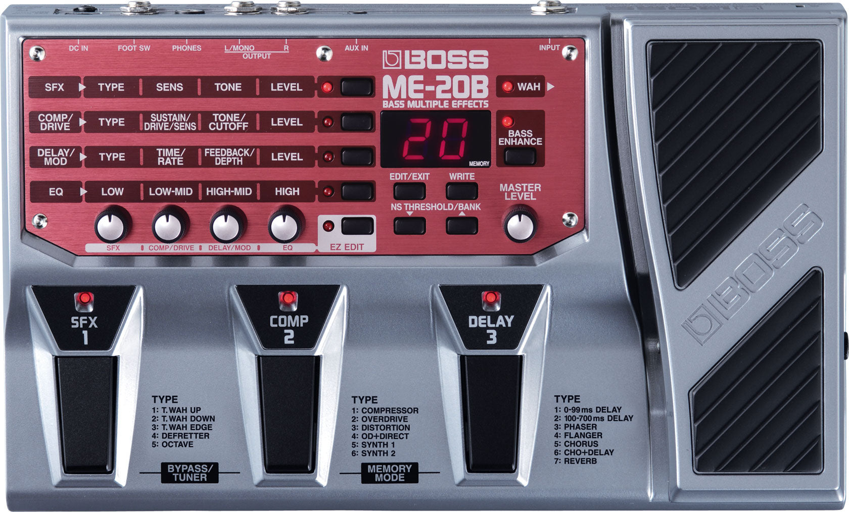 BOSS ME-20B - BASS MULTI EFFECTS PROCESSOR