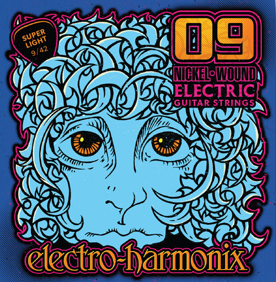 ELECTRO HARMONIX ELECTRIC GUITAR STRINGS - SUPER LIGHT 9-42