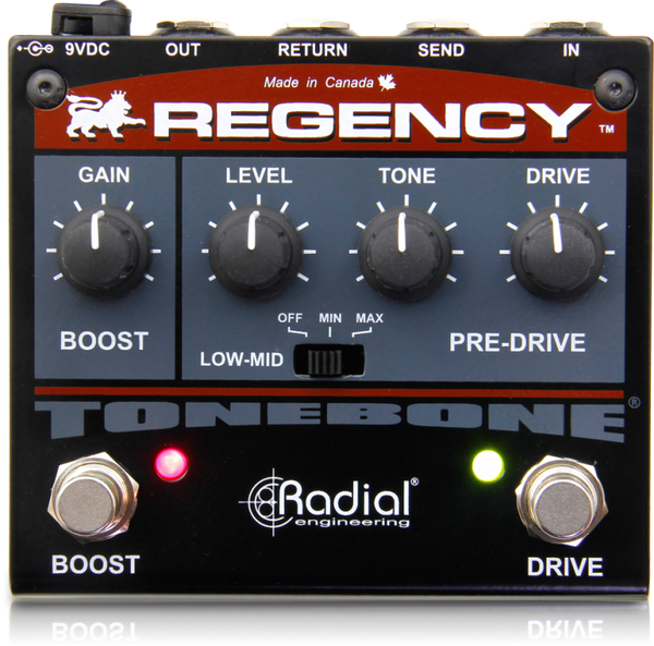 RADIAL TONEBONE REGENCY - OVERDRIVE AND BOOST PEDAL