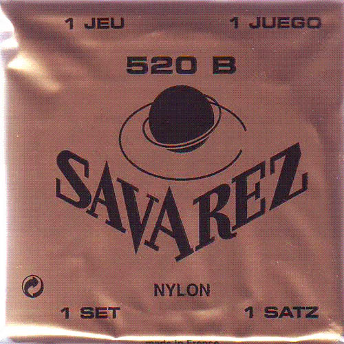 SAVAREZ CLASSICAL GUITAR STRINGS NYLON 520B - WHITE CARD - LOW TENSION