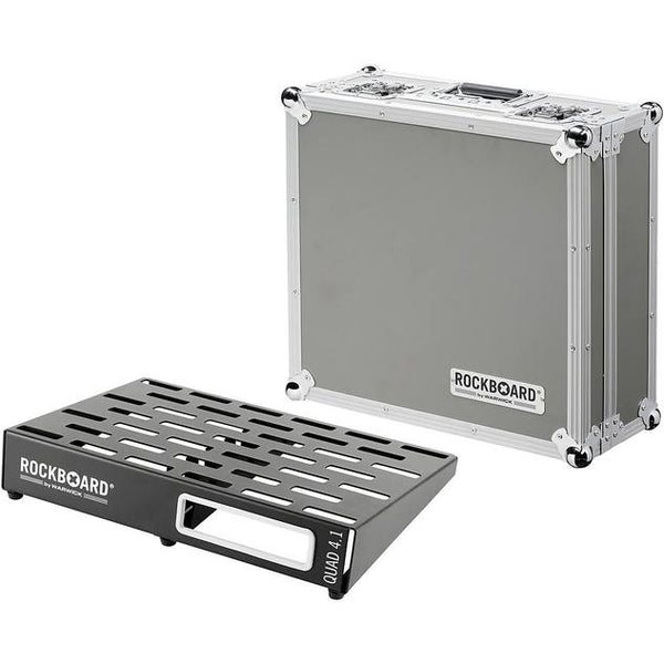 WARWICK ROCKBOARD QUAD 4.1 PEDALBOARD IN FLIGHT CASE