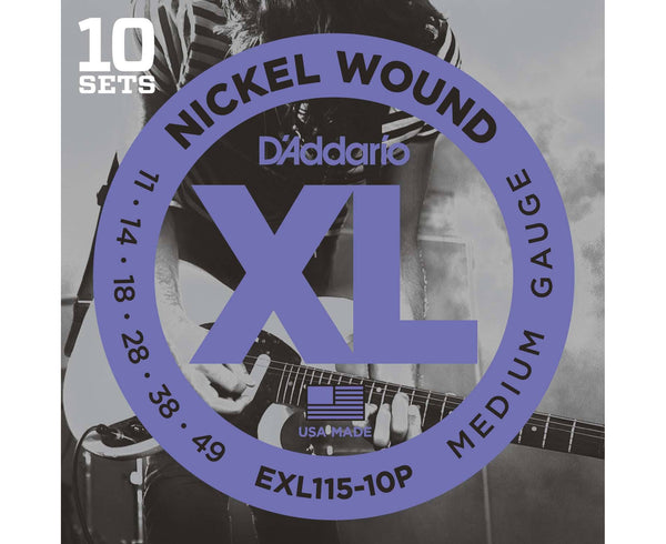 D'ADDARIO EXL110 10 PACK NICKEL WOUND 11-49 MEDIUM