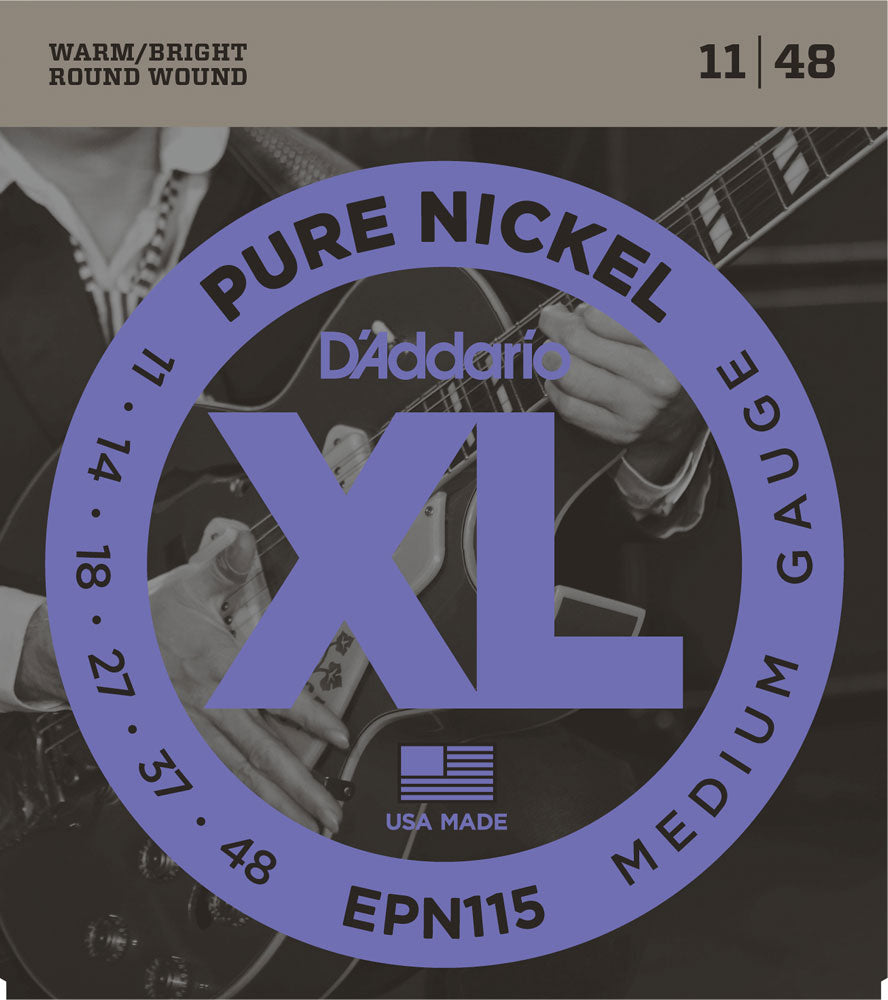 D'ADDARIO ELECTRIC PURE NICKEL EPN115 - 11-48 MEDIUM