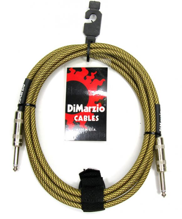 DIMARZIO 10FT BRAIDED INSTRUMENT CABLE TWEED - STRAIGHT/STRAIGHT