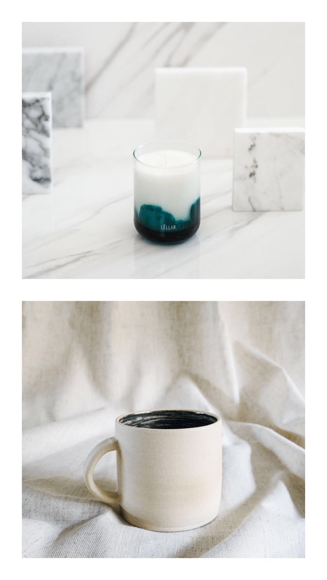 almiah candle + sketch mug gift set