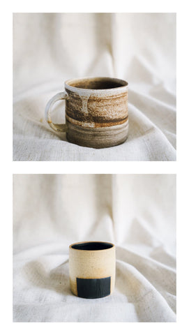 marble speckle mug + box planter gift set