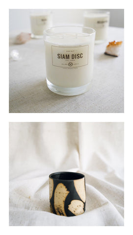 siam disc + black brush planter gift set