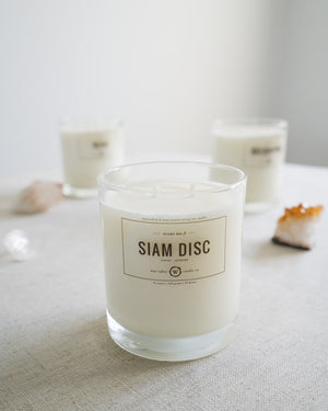 siam disc candle + lines mug gift set
