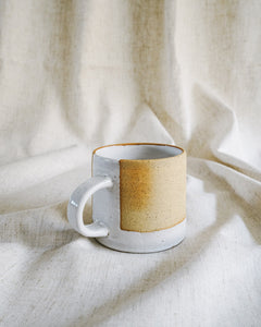 raw mug with glossy edge (set of 2) gift set