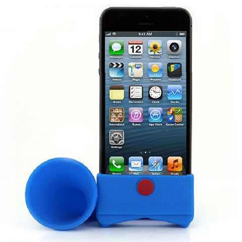 Creative Silicone iPhone Speaker Horn Shape