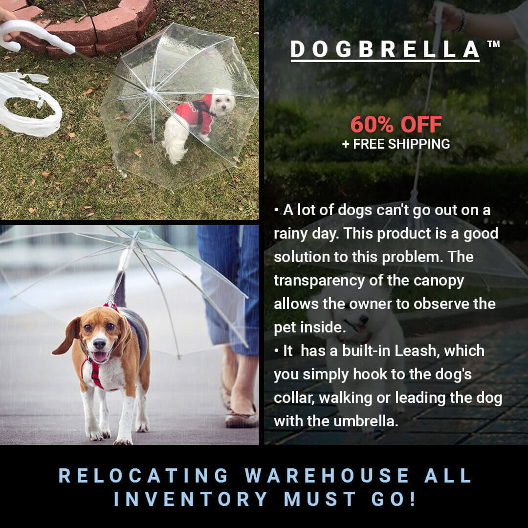 Dogbrella™ Dog Umbrella with Leash