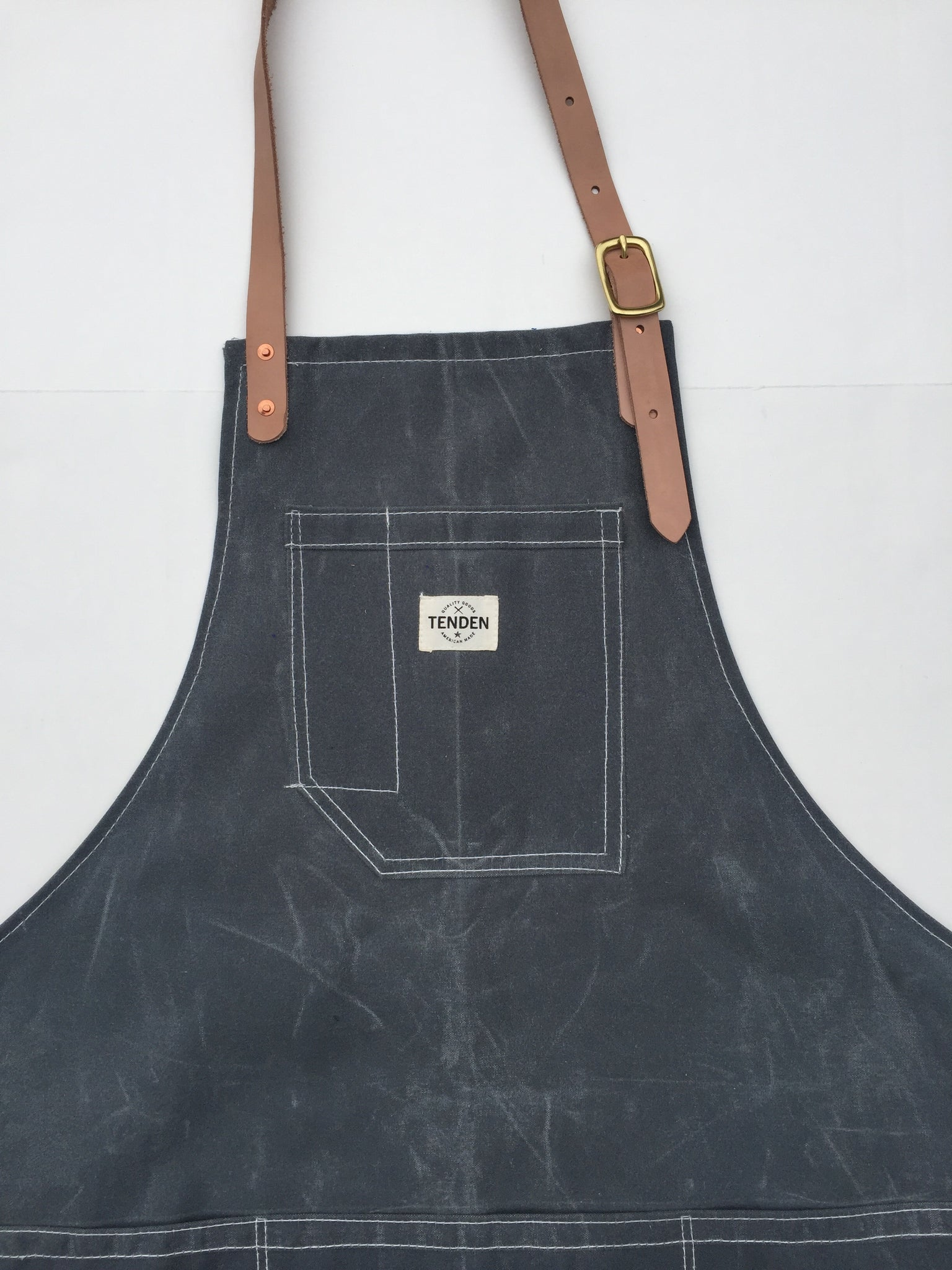 Rust Wax Canvas Apron w Leather Straps Protective Clothing Home ...