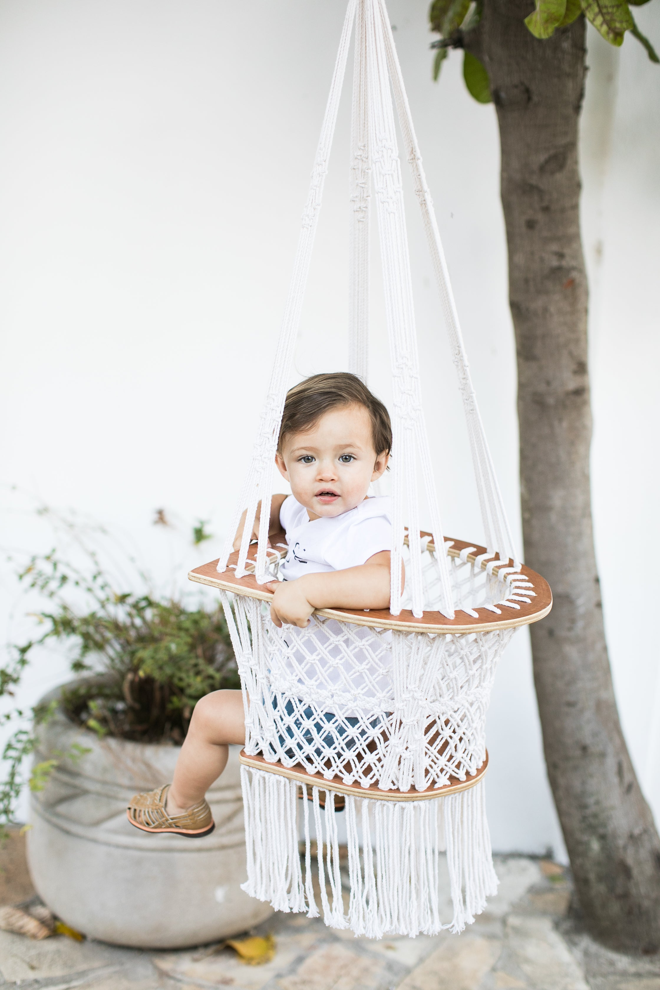 infant macrame swing