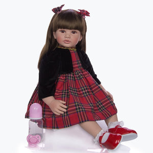 "24"" Realistic Princess Girl Toddler Doll with Rabbit Toy"