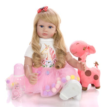 "24"" Cute Princess Baby Girl Toddler Doll with Giraffe Toy"